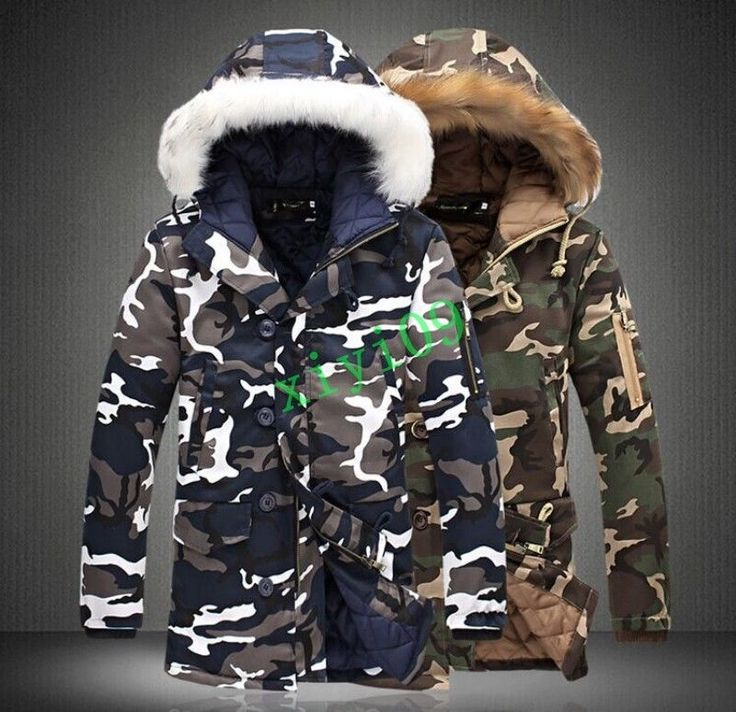 Addict green camouflage quilted coat