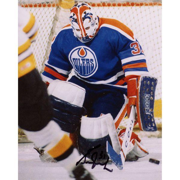 """Grant Fuhr Edmonton Oilers Fanatics Authentic Autographed 8"""" x 10"""" Vertical Making Save Photograph - $39.99"""
