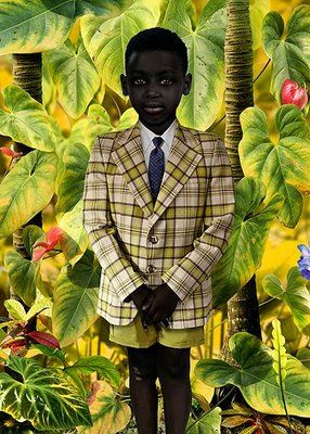 "Artist - Ruud van Empel  ""Created and collaged and using photoshop, his work is made up of hundreds of individual photographs so that every detail shimmers with life."""