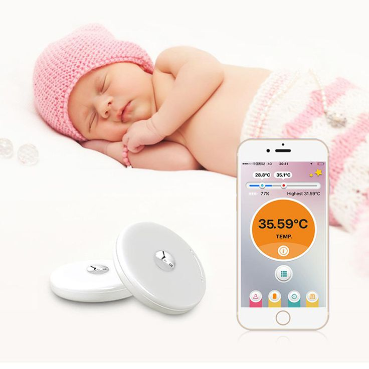 PNLO Monitor Baby Smart 4.0 Bluetooth Thermometer Safe ...