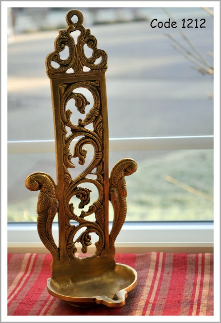 Hanging brass diya/ tea light holder