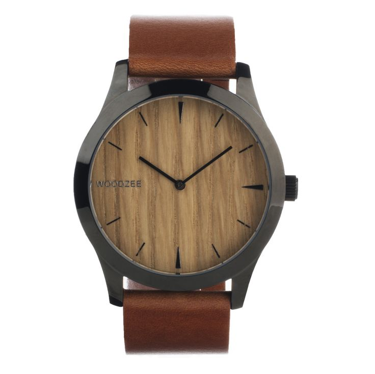 An updated take on our classic Wanderlust men's wood watch that sets the standard for simplified style, with teak wood watch face, choice of American made leather or nylon band, 38mm stainless steel c