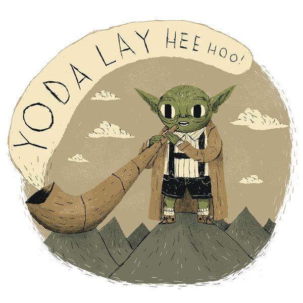 Yodaling by Louisros #starwars #yoda #illustration #cute #geeky