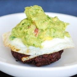 Guacamole Burger by AncestralChef Paleo. I am so doing this for dinner. Craving some meat like no other.
