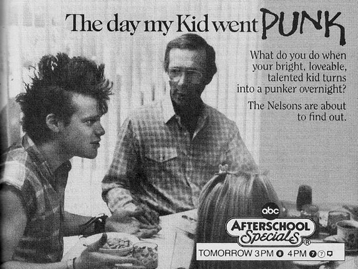 """""""The Day My Kid Went Punk"""" - ABC Afterschool Specials Ad, October 1987 : vintageads"""
