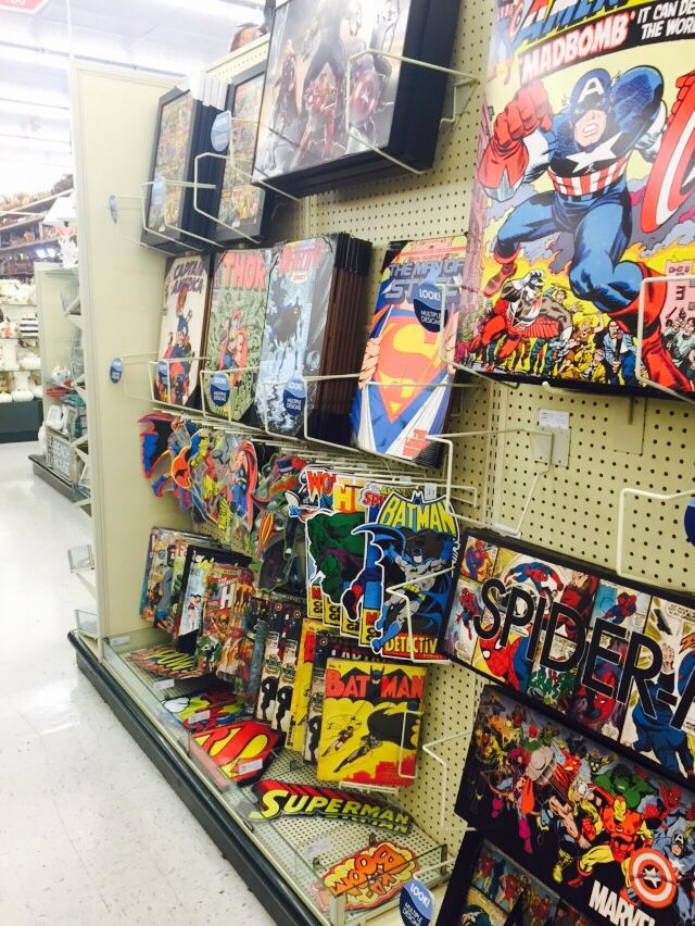 superhero wall decorations from Hobby Lobby  Logan big boy bedroom  Superhero room decor