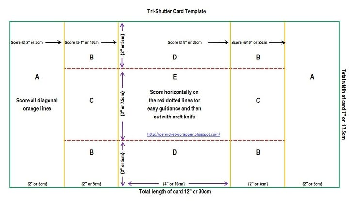 Three Fold Card Template Although It Looks Complicated The Shutter