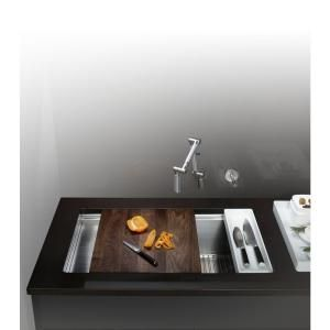 KOHLER Stages Undercounter Stainless Steel  Kitchen Sink. Perfect for my small midcentury kitchen.