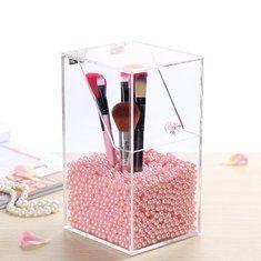#Banggood Акрил ясный контейнер пыле макияж кейс коробка для хранения косметических организатор щетка держатель (1074286) #SuperDeals
