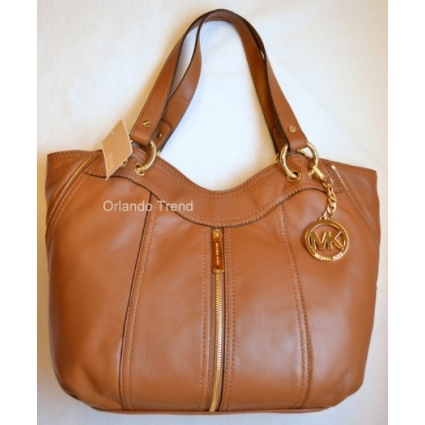 3e98026dae7d ... hot michael kors moxley medium shoulder tote in walnut brown leather  287.00 at orlandotrend a52e0 4af4b ...