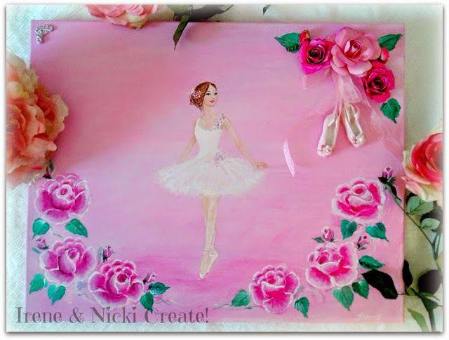 Irene & Nicki Crafts :           Ballerina Canvas Art     ...
