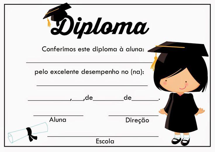 Diplomas prontos para impressão.