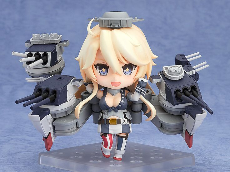 """Hi! I am the Iowa-class battleship, Nendoroid Iowa!"" From the popular browser game Kantai Collection -KanColle- comes a Nendoroid of the USA battleship, Iowa! She comes with three face plates including a standard expression, a half-damaged expression as well as a laughing expression! Even in Nendoroid size Iowa's body is just as impressive as ever, and her ship parts are large enough to rival the Yamato-class Nendoroids in both size and playability! You can choose t..."