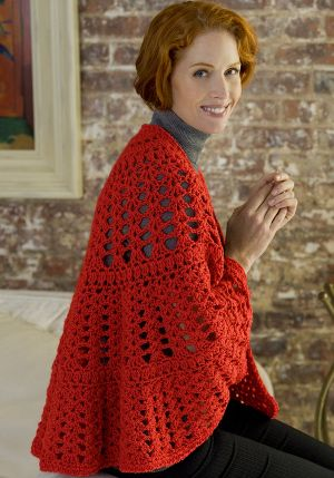 Mary Maxim - Free Have a Heart Shawl Crochet Pattern - Free