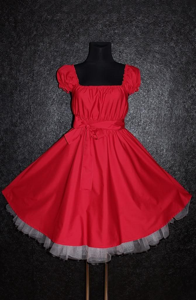 50s RED ROCKABILLY SWING DRESS Plus Size 24 26 28 Gothic Psychobilly eMo Pin Up | eBay