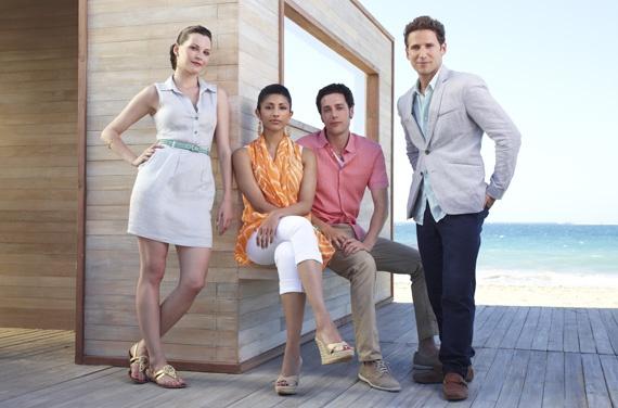 The cast of 'Royal Pains.' Hank and Evan Lawson (Mark Feuerstein, Paulo Costanzo), Divya Katdare (Reshma Shetty), Jill Casey (Jill Flint).