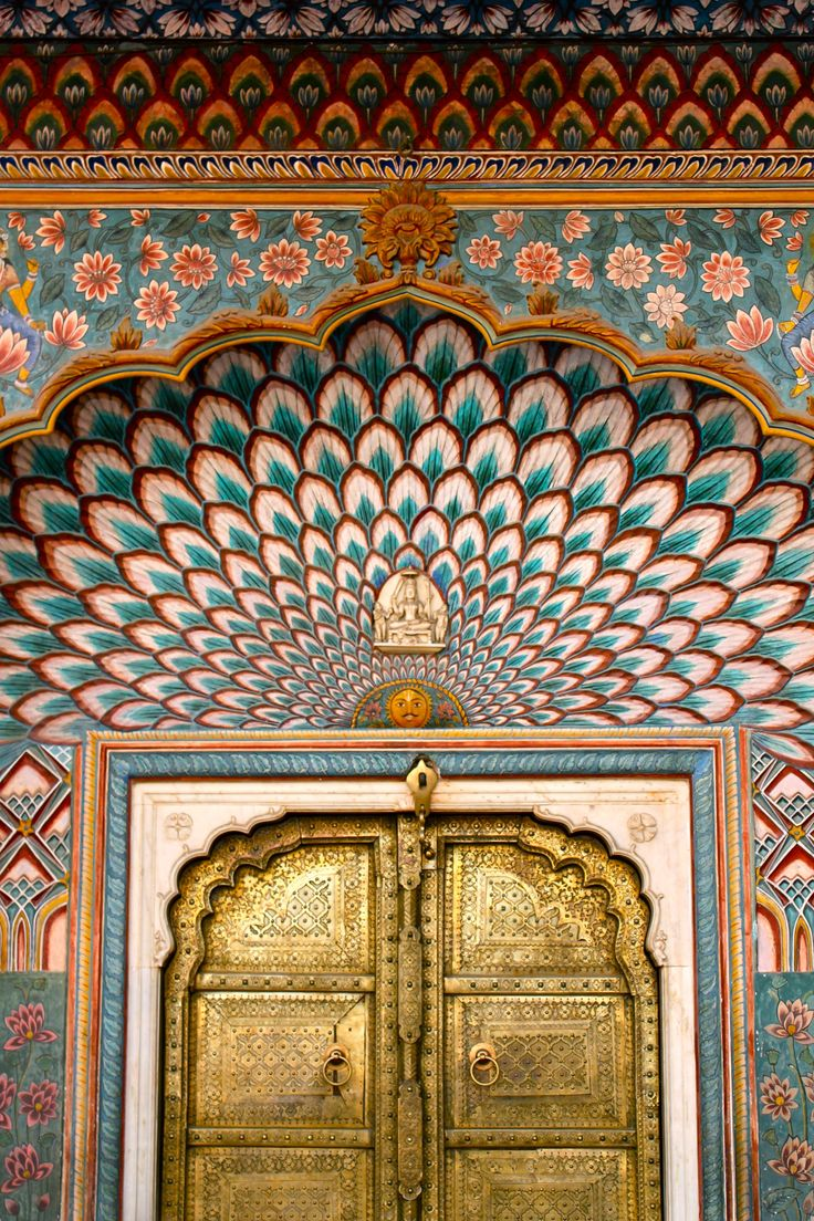 "lizzy-jones: ""Golden Door, City Palace, Jaipur, Rajasthan, India // 23.2.15 """