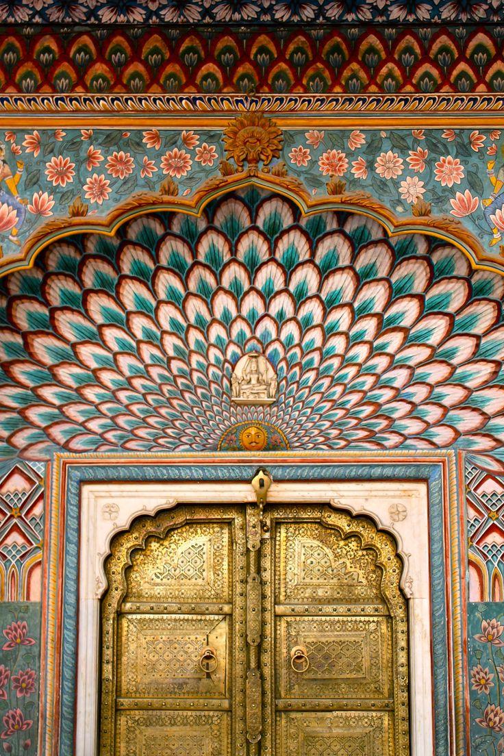 "lizzy-jones: ""Golden Door, City Palace, Jaipur, Rajasthan, India // 23.2.15 """