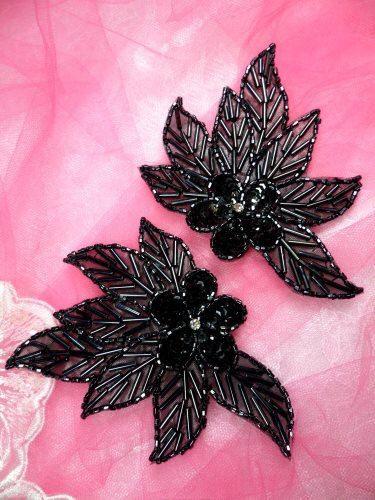 Miroir paire perles Sequin Appliques mesures : 4.5 « x 3 » chaque vous achetez une paire comme illustré ci-dessous.