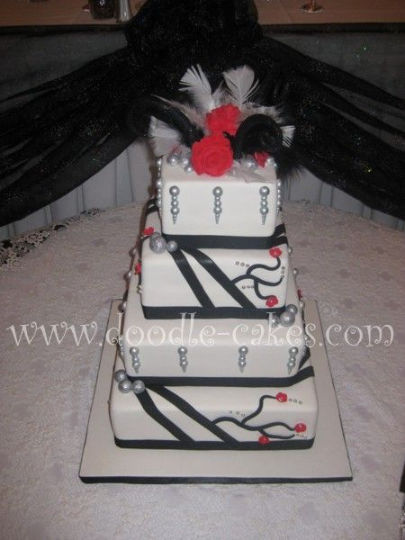 Old Hollywood Glamour Wedding « Doodle-Cakes.com