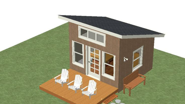 Micro Cabin Unit One 12x12 Shelter Kit And Deck 9x12