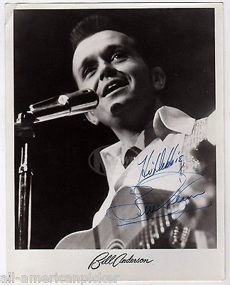 BILL ANDERSON COUNTRY MUSIC SINGER ORIGINAL AUTOGRAPH SIGNED PROMO PHOTO