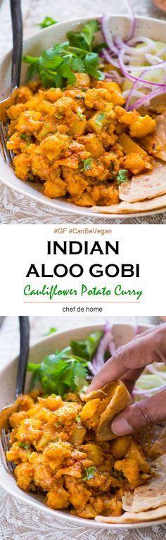 Aloo Gobi - Cauliflower Potato Curry for gluten free weeknight dinner