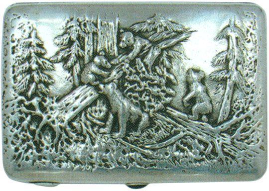 Портсигар «Мишки в сосновом лесу» Конец XIX - начало XX веков