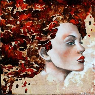 "Saatchi Art Artist Donatella Marraoni; Painting, ""Fire"" #art"