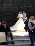 Wedding outside the duomo