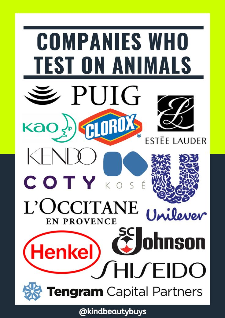 The companies listed are NOT considered crueltyfree. If