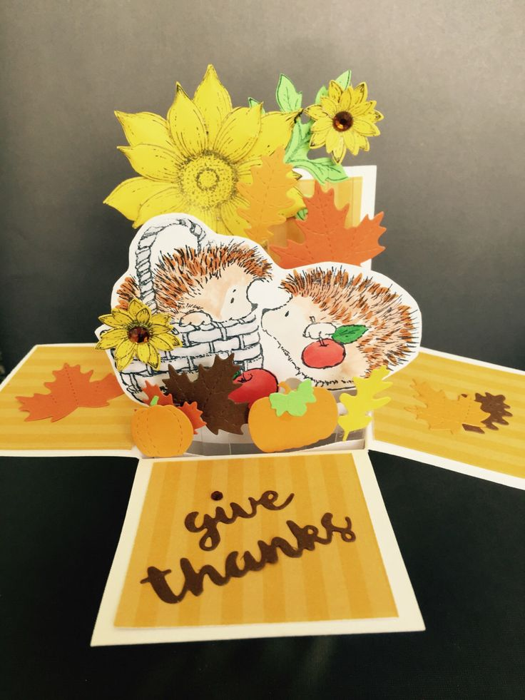 A personal favorite from my Etsy shop https://www.etsy.com/listing/461737490/3d-thanksgiving-pop-up-card-3d-fall-pop