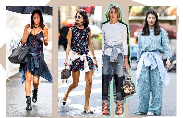 Use a camisa amarrada na cintura (Foto: Arte Vogue Online)
