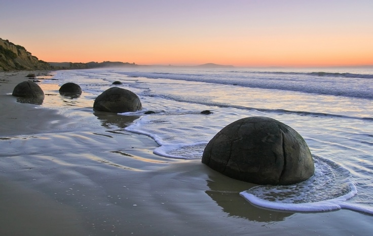 Moeraki Boulders, near Dunedin