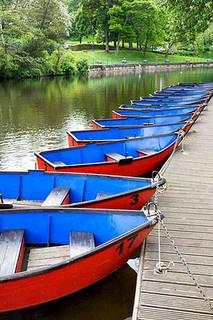 Boats on the River Wansbeck Morpeth Northumberland England by Mark Sunderland, via Flickr