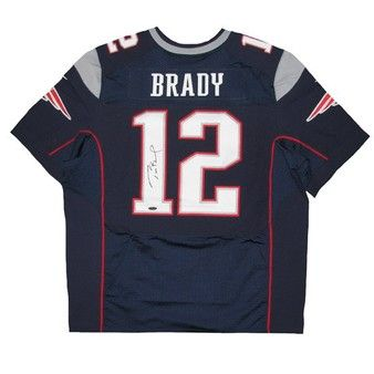 Official New England Patriots ProShop - Tom Brady Autographed Nike Elite Jersey-Navy