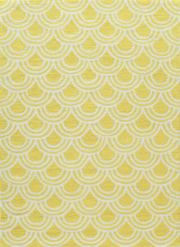 Great (1) White Scallops Dance Around Our Yellow Lemon Drop Rug.
