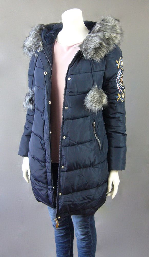 Damen Mantel Parka Steppmantel blau Honey Winter Fell Kapuze Gr. S M XL XXL | Kleidung & Accessoires, Damenmode, Jacken & Mäntel | eBay!