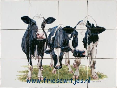 keuken tegels met   koeien