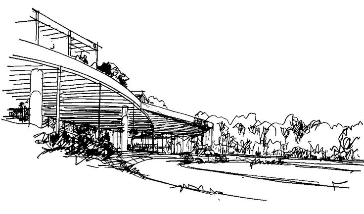 Howard Hughes Medical Institute – Janelia Farm Campus | Rafael Viñoly Architects | Rafael Viñoly sketch