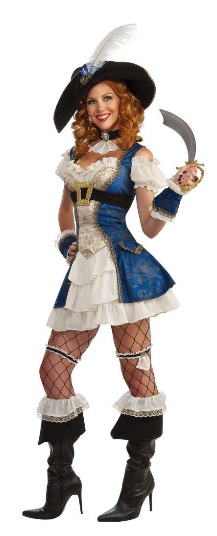 Costume-Carnevale-Donna-Sexy-Pirata-Blue-Abito-Halloween-Costumi-Donna