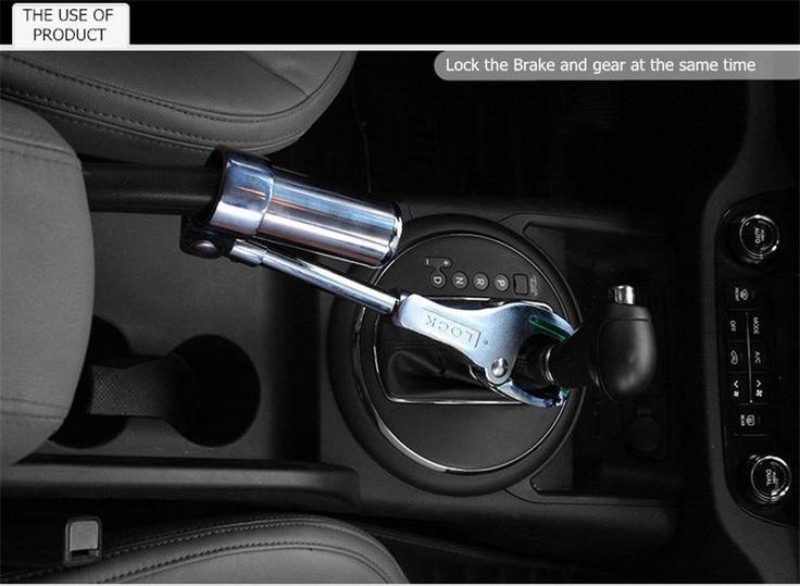 brand new high quality car suv truck security universal brake gear shift handbrake lock anti theft