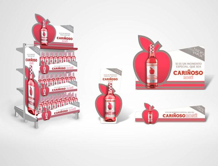 Cliente: JGB Producto: Cariñoso Referencia: Cariñoso Rosé Aplicación: Material de Merchandising y Visibility Fecha: 2012