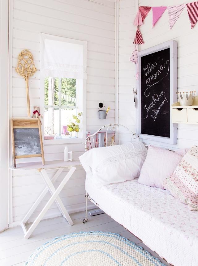 Talo & Koti white painted wood interior