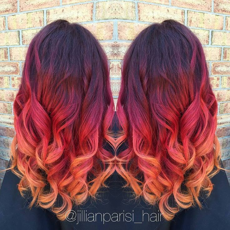 Fire red color melt by yours truly!❤ @Regrann from @jillianparisi_hair - Fire red color melt by yours truly!❤️ #Regrann