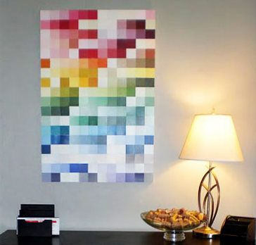 MANY things to do with paint sample color cards. Which are free.