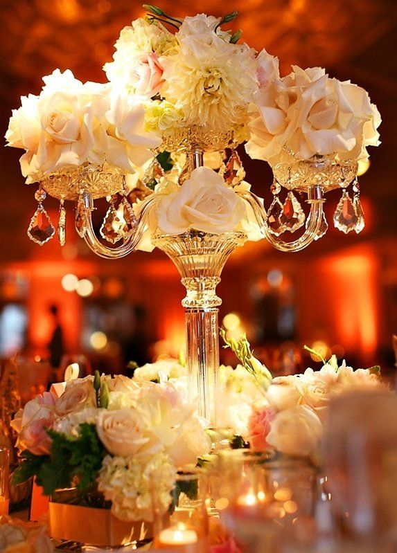 Best candelabra flowers images on pinterest