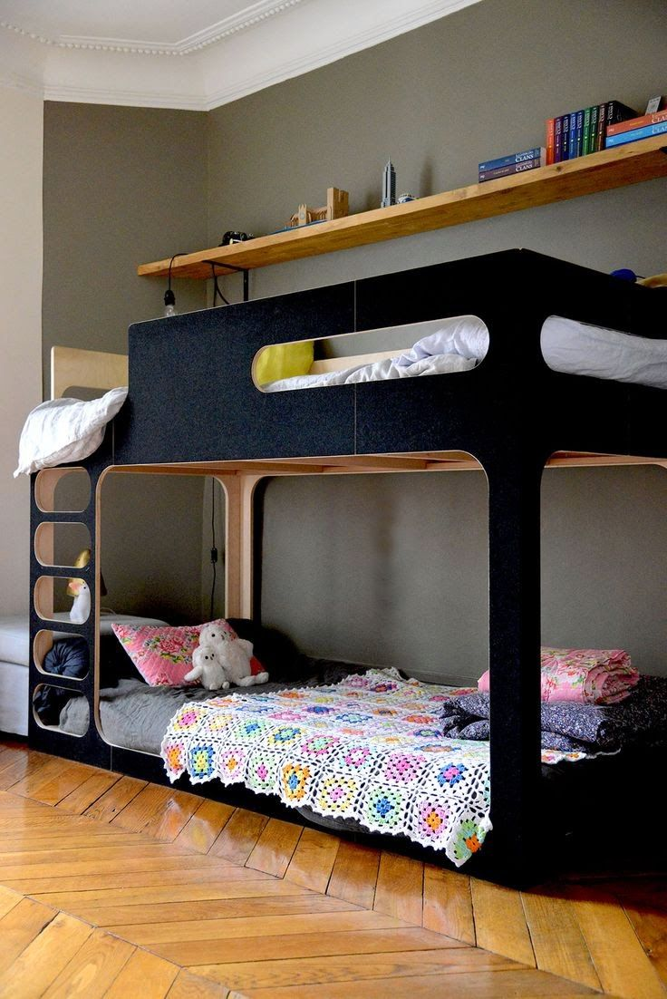 the boo and the boy shared kids' rooms Bunk Beds