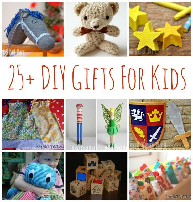 DIY Gifts for Kids - for those of you loving Christmas and Christmas PLANNING, check out some of these homemade gifts that you can make for the kids in your life - be it, your own, nephews, nieces, god children, kids you teach or a friends child - here are over 25 crafty ideas to inspire you!