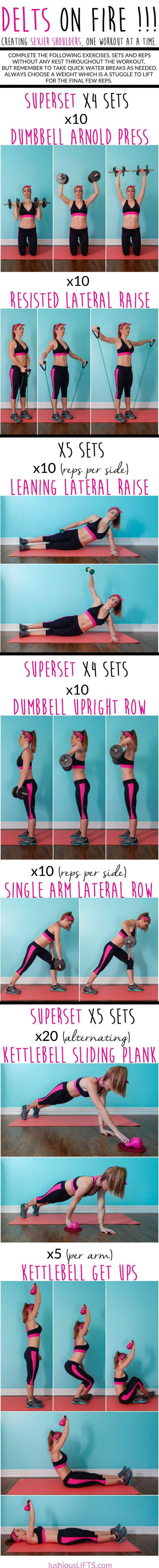 Killer shoulder #workout. Do it in the gym or at home!
